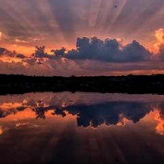 Eerste prijs Landschap Kleurrijke zonsondergang